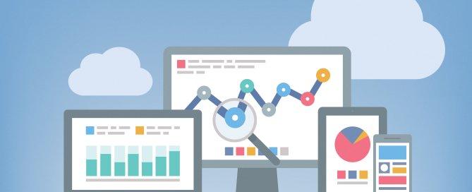 Google Analytics charts and data