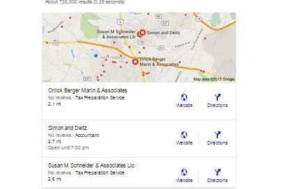 Google Local 3 Pack Example