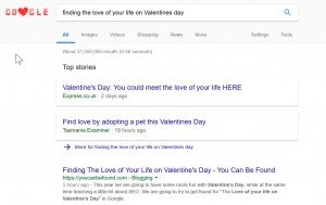 Finding Love Exercise Google Ranking