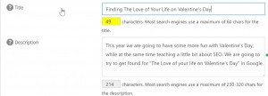 Love of Your Life Article Meta Tags