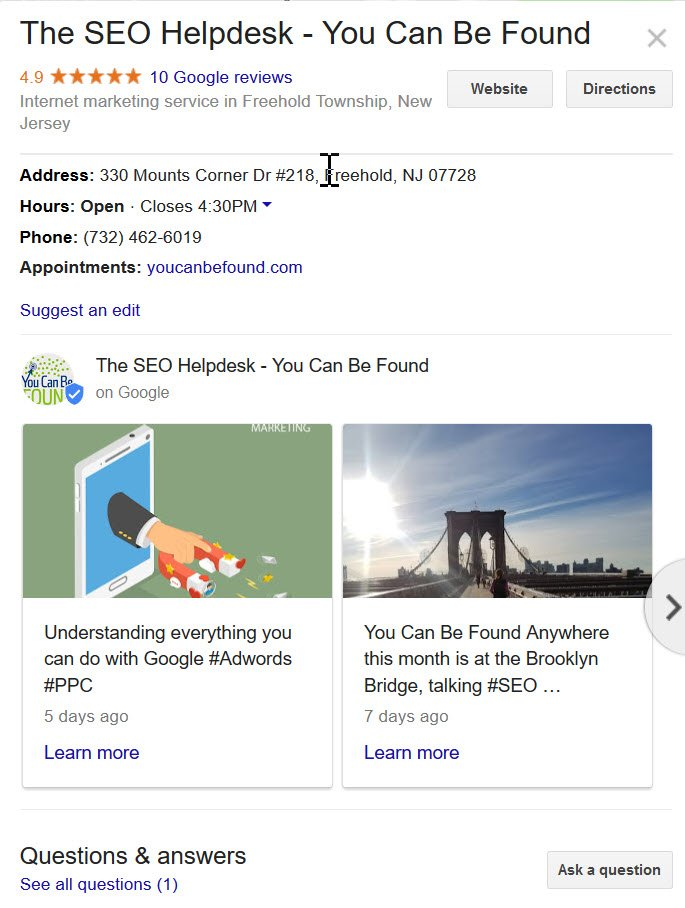 Google Posts Management for Local Search