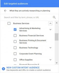 Adwords Intent Based Audiences