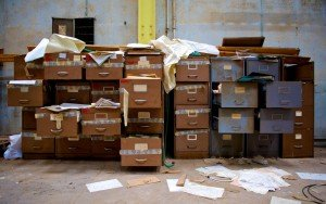 Messy Filing Cabinet Symbolizing Broken Links