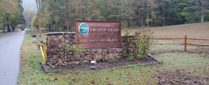 Frozen Head State Park Sign, Tennessee