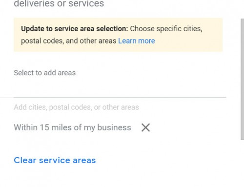 Major Changes to Google Business Page Settings for Service Area Businesses