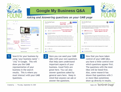 Small Business Google My Business (GMB) Questions and Answers: A How To
